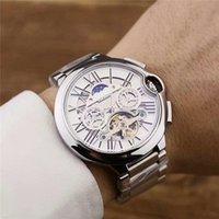 relógio da semana venda por atacado-Homens de Luxo Designer TAG Moda relógios de Pulso dos homens Relógio esportivo Tourbillon relógio automático data semana Mens Relógios Orologi da uomo di lusso