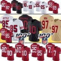 ingrosso maglie-85 George Kittle San Francisco 97 Nick Bosa 49ers Jersey 10 Jimmy Garoppolo 25 Richard Sherman 55 Dee Ford 7 Kaepernick Jerry Rice Maglie