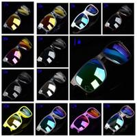 Wholesale sun plastic coating resale online - 13 colors summer men sunglasses women reflective coating sun glass cycling sports dazzling brand new eyeglasses MMA1858