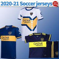 saison fußball groihandel-2020 Neue Saison Boca Juniors Startseite Blue # 16 DE ROSSI Fußballjerseys 19/20 weg weiß # 10 # 17 TEVEZ abila Fußball Hemden Fußball-Uniform