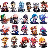 kits de garaje de anime al por mayor-Linda figura de acción de League of Legends Toys Kawaii Collect Game Anime Model Garage Kit con caja de regalos