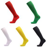 elastik havlu toptan satış-Katı Uzun Tüp Çorap Açık Spor Alt Havlu kaymaz Yüksek Çorap Çizgili Elastik Nefes Anti-Sürtünme Futbol çorap