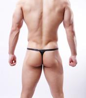deri bel bandı toptan satış-Gladyatör seksi imitasyon deri monobutyl İç Siyah bel küçük tanga T pantolon