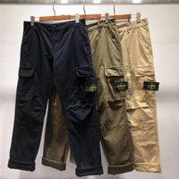 сумки штаны оптовых-19SS высококачественные европейские и американские модные брюки базовые брюки-карго с несколькими сумками повседневные модные брюки оптом