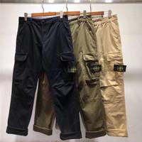 pantolon pantolonu toptan satış-19SS yüksek kalite Avrupa ve Amerikan moda pantolon temel çok çanta kargo pantolon rahat moda pantolon toptan