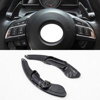 alavanca da alavanca de mudanças venda por atacado-2X Car Engrenagem DSG Volante Shift Paddle Extension Fit Para Mazda 3 6 CX-3 CX-4 MXX-5 Shifter Lever Capa Acessórios