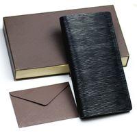 Wholesale open cell phones resale online - designer wallet leather long wallet men pruse male clutch zipper around wallets men women money bag pocket Short Wallet white Box