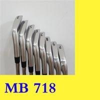conjunto de cabeça de ferro venda por atacado-MB 718 Golf Irons MB718 Irons Homens Golf Club Iron Set 3456789P 8pcs com headcover eixo