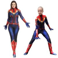 Wholesale women costume classic for sale - The avengers Captain Marvel Carol Danvers Ms Marvel Costumes Catsuit Tracksuit cosplay D toy Printed slim rompers jumpsuit clothes AAA1917