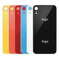 cam pil arka kapak kasası iphone toptan satış-IPhone XR / XR AB Orijinal Arka Pil Kapağı Arka Kapı Paneli Cam Konut Case + Yapıştırıcı Sticker Tamir 100% Orijinal Cam Kapak Değiştirin