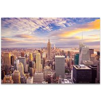 Wholesale new paint wall for sale - Group buy Canvas Painting Bridge Cityscape Night Scene Sunset New York Tokyo Tower Posters and Prints Wall Picture For Living Room Decor