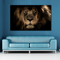 Wholesale lion room decor resale online - Canvas Posters Home Decor Wall Art Mane Savannah Lion Paintings For Living Room Posters Prints Abstract Animal Pictures Cuadros