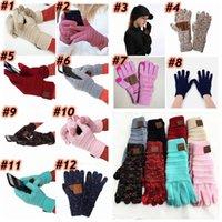 Wholesale skateboarding gloves resale online - Knitting Touch Screen Gloves Capacitive Glove Women Winter Warm Wool Crochet Gloves Antiskid Knitted Teleginger ZZA1481