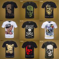 grüne übermenschhemden großhandel-Philipp Plein 19ss Marken Sport Hip Hop Designs Winter Herren T-Shirt Kurzarm Baumwolle Schädel Hip Hop Designer Herren Damen T-Shirts Tops p9908