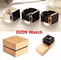 bluetooth için akıllı saatli cep telefonu toptan satış-DZ09 Apple Samsung IOS Android Için Bluetooth Smart İzle Smartwatch Cep Telefonu 1.56 inç