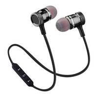 Wholesale 4.2 bluetooth resale online - metal magnetic in ear sports Bluetooth headset long standby mini outdoor portable Bluetooth headset with microphone