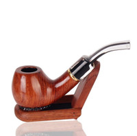 Wholesale wood shell carving online – custom Old mahogany carved tortoise shell pipe portable man s silk pipe white tail cigarette filter pipe