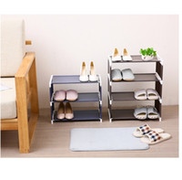 Wholesale shoes cabinets resale online - Fashionable Room saving Non woven Fabric Shoe Storage Shoe Rack shoe cabinet storage rack with dust cover space saving multi purpos