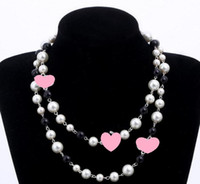 Wholesale simulated pearls resale online - Designer Long Sweater Chain Collar Maxi Necklace Simulated Pearl Flowers Necklace Women Fashion Jewelry Bijoux Femme Christmas Gifts