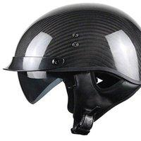 capacete completo aberto venda por atacado-Fibra de Carbono capacete aberto personalidade masculina legal off-road combinação locomotiva capacete integral carro elétrico casco M L XL XXL
