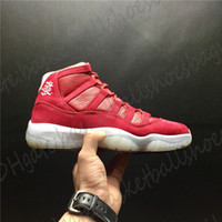 Wholesale basketball shoes socks for sale - Group buy J11 Basketball Shoes Kung Hei Fat Choy Men Handiness Cut Low Official Sneakers Popular Soft Light Outlet State With Socks And Boxes