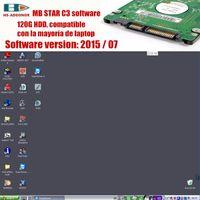 conector wifi obd2 al por mayor-Soporte para la mayoría de las unidades de disco duro portátiles con conector OBD2 Software C3 Star para el probador de automóviles MB star C3 Compatibilidad con la función HHT Envío gratuito
