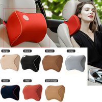 Wholesale car head neck rest pillow resale online - Universal Car Seat Pillow Auto Head Neck Massage Pillow Vehicle Headrest Support Rest Cushion Car Seats Accessories