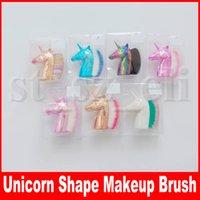 ingrosso strumenti per la formatura di unghie-Pennello multiuso per fondotinta a forma di unicorno Blush Pro Pennello per trucco a polvere Pennelli kabuki Viso per unghie Pennello per trucco Cosmetico per la bellezza
