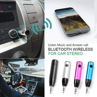 Wholesale car audio cable colors for sale - Group buy 2017 Colors Bluetooth Car Audio Music Adapter Handsfree Receiver mm Jack Wireless With Mic Aux Cable For Speaker Headphone