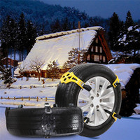 цепной ремень безопасности оптовых-Открытый цепи шин Автоаксессуары Грузовик Ремень с гайковерт TPU Alloy Winter Driving Tie Snow Chain