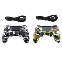 controlador de juego con cable al por mayor-Nuevo controlador con cable para PS4 Vibration Joystick Gamepad PS4 Game Controller para Sony Play Station Modelo privado Gamepad skull Girl con caja