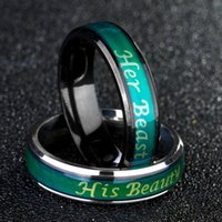 feines paar ring groihandel-Fine Jewelry Mood Ring Temperatur Farbe ändern Gefühl Ring Ihr Tier Seine Beaty Paar Ringe Luxus-Designer-Schmuck Frauen Ringe 2020