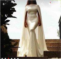 ingrosso bellissime abiti da sera della sirena-Bellissima Celebrity Evening Dresses Mermaid 2019 Nuovo con Arabo Capo semplice ed elegante maniche lunghe Prom Gowns