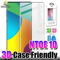 temperli cam ekran koruyucusu renkleri iphone toptan satış-Samsung NOT için 10 Ekran Koruyucu için S10 Artı Huawei P30Pro Oneplus Perakende Kutusu ile 7 Pro Durumda Dostu 3D Kavisli Temperli Cam