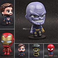 personnages de vengeurs achat en gros de-Avengers: Endgame Justice funko pop figurines d'action League Marvel Avengers Super Hero Caractères Modèle Vinyl Action Jouet Figurines enfants jouets