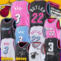 ingrosso calore jersey-Riscalda Dwyane Wade 3 Jersey Miamis 14 Tyler Herro Jersey Jimmy Butler 22 Jersey 77 Doncic 6 Porzingis NCAA Maglie