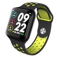 taux de mètre achat en gros de-Longet F8 montre intelligente avec moniteur de fréquence cardiaque bracelet intelligent Étanche IP67 Bluetooth Fitness Tracker pour iPhone Xiaomi