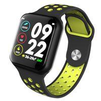 ingrosso iphone dei gps dei giocatori dei capretti-Longet F8 Smart watch con braccialetto intelligente per cardiofrequenzimetro IP67 Bluetooth Fitness Tracker impermeabile per iPhone Xiaomi