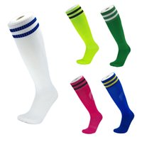 ingrosso calzini escursionistici sportivi all'aperto-New Arrival Football Soccer Socks Long Tube Socks Towel Bottom Outdoor Sports Stockings Running Hiking Cycling For Adults Children M116Y