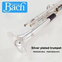 alto-falantes de instrumento venda por atacado-American Bach trompete LT197S-100 B Plano Trumpet Musical Instrument Uma integrado Speaker Professioner Beginner Trompete Frete grátis