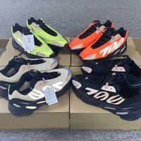 Wholesale west sport shoes resale online - 700 MNVN West Kanye M Black Bone Phosphor Orange Womens Mens With Box Running Shoes Size Sports Shoes