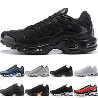Wholesale mens basketball shoes online resale online - Tn Plus Men Women Running Shoes Run Sneakers Greedy Oreo Triple Black White Silver Bullet Mens Trainer Athletic Sport Size Online Sale