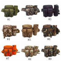 Wholesale travel waist bags for men for sale - Group buy Tactical Waist Bag Multifunction Army Fan Outdoor Hiking Package for Men Women Sport Packet Camouflage Travel Kettle Package LJJZ463
