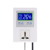 Wholesale digital temperature regulator controller thermostat for sale - Group buy Freeshiping New Digital Intelligent Temperature Controller Pre wired thermal regulator with Sensor Thermostat Heating Cooling Control Switch