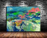 pintura a óleo das canvas dos peixes venda por atacado-Pesca, Pintura em tela Sala de estar Decoração de casa Modern Mural Art Oil Painting