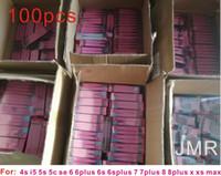 decalque para iphone venda por atacado-100 pcs / l original da bateria adesivo adesivo para iphone xs xr max x 4 5s 5c 6 6 s 7 8 plus bateria cola fita tira tab ...