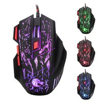 Wholesale anti static ring resale online - Professional D DPI USB fiber optic wired gaming mouse woven nylon line two color anti static electromagnetic ring mouse