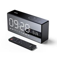 mini altavoz de control remoto al por mayor-DiDo X9 Mini tarjeta Espejo FM Carga de audio Radio Radio Set Alarm Control remoto Altavoz inteligente Equipo de audio y video portátil