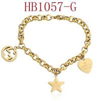 meilleure chaîne en or pour les femmes achat en gros de-L'Europe Bracelets pour hommes et femmes hip hop chaîne gg Charm Bracelets Mode bijoux bracelet plaqué or avec boîte meilleur cadeau G2Gucci