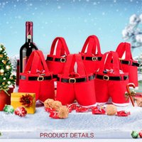 ingrosso borsa candy christmas red-Decorazioni Regalo Borsa regalo di Natale Natale Wedding Bag Candy Red Bag Borse Pantaloni regalo giocattoli per bambini
